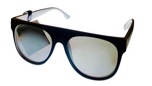 Converse H104 - Gafas de sol para hombre, parte superior recta, de plástico, color blanco y negro mate