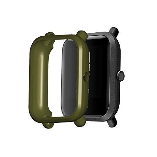 Sahoga Estuche Protector de Reloj, Funda Protectora Suave de TPU, Carcasa a Prueba de Golpes Carcasa Protectora antirrayas Compatible con Amazfit Bip/Amazfit Bip S/Bip 1S / Amazfit Bip Lite