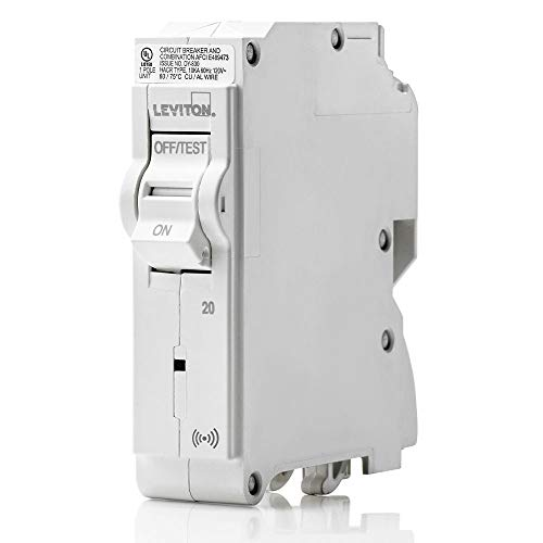Leviton LB120-S 20 Amp, 1-Pole Plug-on Smart Standard Branch Circuit Breaker, 120 VAC, White