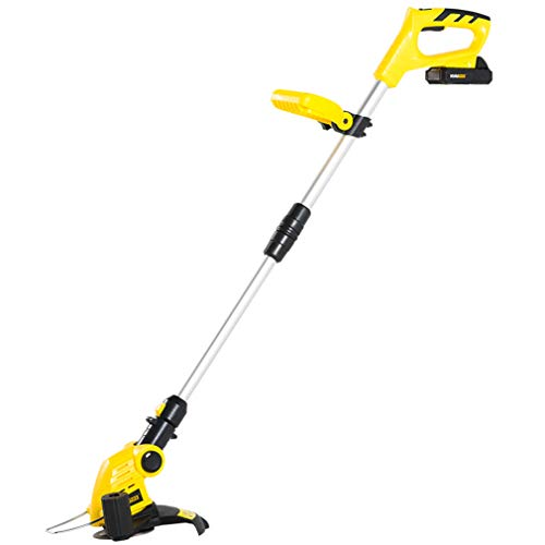 Best Prices! CHRYS Electric Grass Trimmer Telescopic Lawn Mower 20V Lithium Battery Charging Grass C...