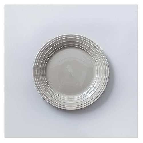 Platos llanos Placas de cena de cerámica de 10 pulgadas Placas de rayas multicolor con patrón para pastas de pasta de ensalada Postre y aperitivo, Microondas Lavavajillas Caja fuerte Platos de ensala