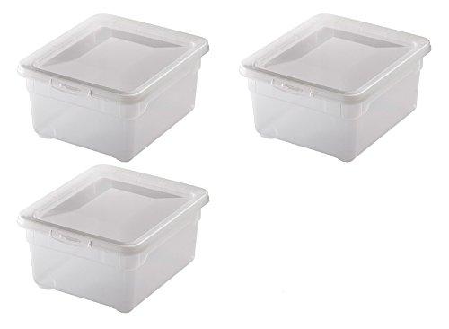 """3x Aufbewahrungsboxen """"Clear Box"""" mit 2 Litern, 19,0 x 16,5 x 9,0 cm - transparent - stapelbar - Kunststoff/Plastik"""