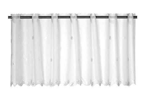 Elbersdrucke Sun Valley 00 Bistrogardine, Polyester, weiß, 48 x 150 cm