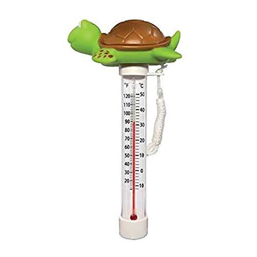 Apofly Pool Thermometer, Teich Wasser Thermometer Pool Thermometer für Indoor & Outdoor pood Spas Hot Tubs (Meeresschildkröte)