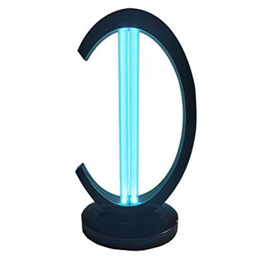 xiaohuozi Ultraviolette Schreibtischlampe mit Desinfektion mit Ozon-Licht zur Entsorgung von Hausstaubmilben mit Induktionsfunktion, Schwarz