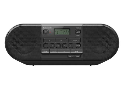 Panasonic RX-D500EG-K CD Boom Box (Radio UKW, CD Player, Netz- und Batteriebetrieb, Sleep Timer) schwarz