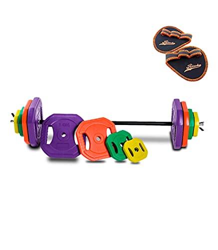 Wonduu Juego de Body Pump con Barra Recta y Discos Según el Peso | Set de Pesas con Barra y Discos | Peso 30 KG