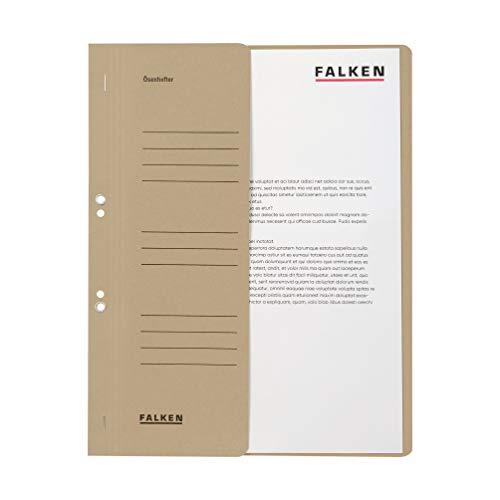 Preisvergleich Produktbild Original Falken 50er Pack Ösenhefter. Made in Germany. Aus Recycling-Karton mit halbem Vorderdeckel und kaufmännischer Heftung für DIN A4 grau Hefter Sammelmappe Blauer Engel