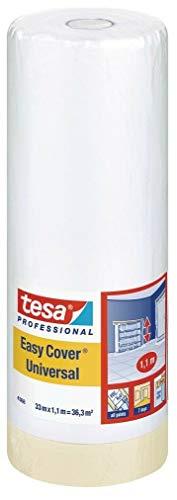 Tesa 04368-00008-01 Easy Cover 4368 Premium Malerkrepp mit Abdeckfolie 33 m:1100 mm