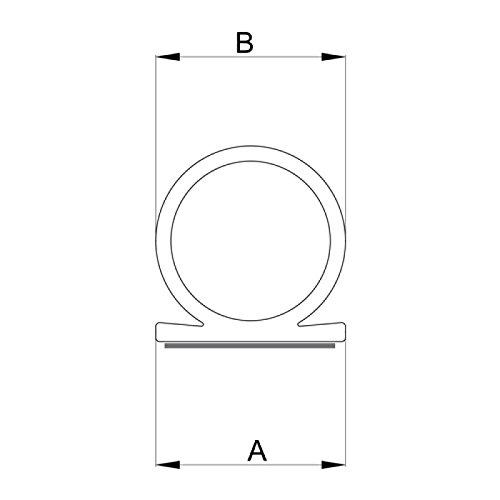 DIWARO® Selbstklebende - Dichtung SK010 | weiß | 5 Meter | geeignet als Fensterdichtung wie auch als Türdichtung. Mit starken und sehr haltbaren Klebeboden.