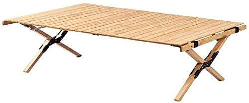 seiyishi ウッドロールテーブル 高さ90cm×60cm アウトドアテーブル 折り畳みテーブル ハイテーブル アウトドア キャンプ コンパクト収納 SY-ZDJY-01 (90x60(ローテーブル))