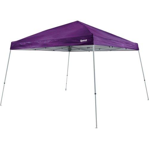 Quest 10 Ft. X 10 Ft. Slant Leg Instant Ez up Pop up Recreational Tent Canopy (Purple)