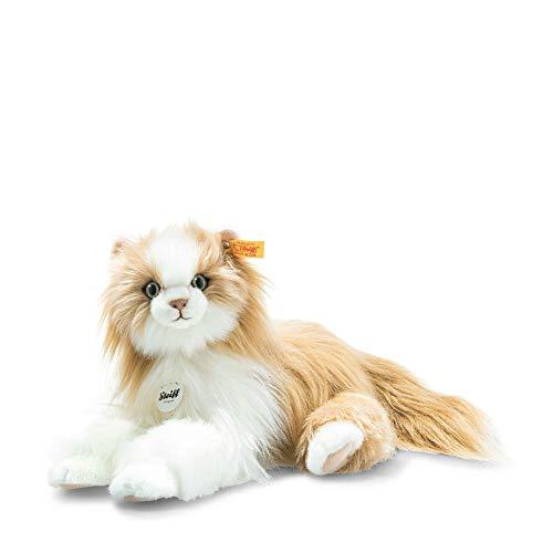 Steiff Princess Katze-30 cm-Kuscheltier für Kinder-weich & kuschelig-waschbar-rotlond (099250), rotblondnd/weiß