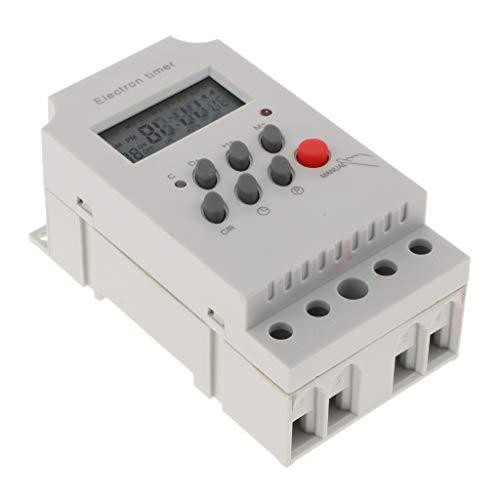 MagiDeal Interruptor de Temporización Digital Programable Interruptor de Controlador de Tiempo de Relé 12V CC CA
