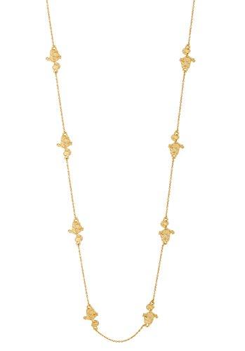Disney Couture Collar de gato Cheshire chapado en oro con diseño de...
