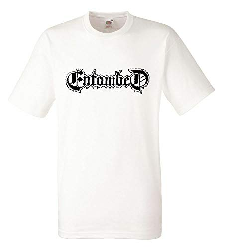 Entombed Logo White Mens T-Shirt Men Tee Shirt