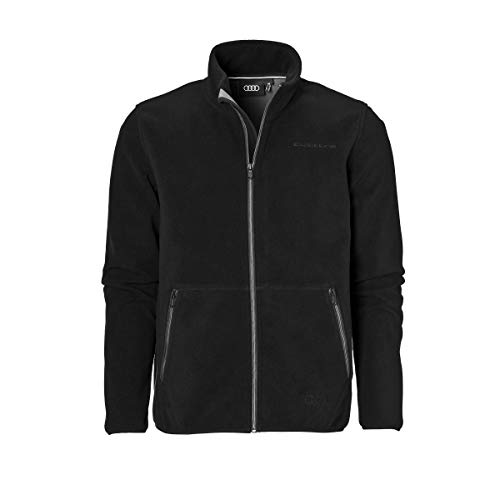 Audi collection 313170060 Quattro Fleecejacke, Herren, schwarz, XL