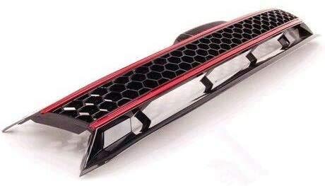Coche Delantera Rejilla Frontales Parrilla Radiador para Volkswagen Golf 6 MK6 GTI R20, Malla Nido Estilo Modificados Accesorios