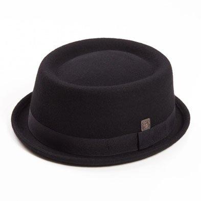 DASMARCA Jack Carbonio Feltro delle Lane Inverno Porkpie Hat - M