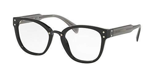 Miu Miu Damen 0MU 04QV Sonnenbrille, Black, 52