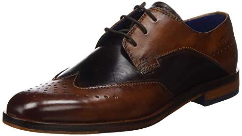 Bugatti 311891011111, Zapatos de Cordones Derby Hombre, Marrón (Cognac/Brown 6360), 45 EU