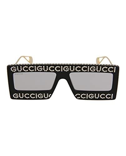 Gucci Occhiali da sole in acetato con montatura a mascherina