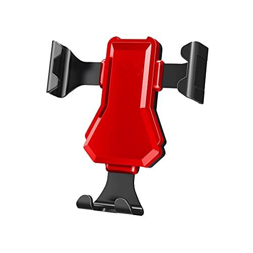 Huposdxjczzj Soporte Movil Coche, Tenedor de Coche Universal Soporte de teléfono Teléfono de Aire Teléfono móvil móvil en Soporte de Montaje de navegación de automóviles (Color : Red)