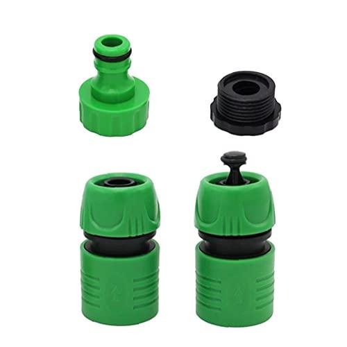 DierCosy Manguera de jardín Conecte rápido Conexión de la Manguera ABS ABS Universal Manguera de Agua Adaptador para jardín césped Grifo Verde 3pcs útiles