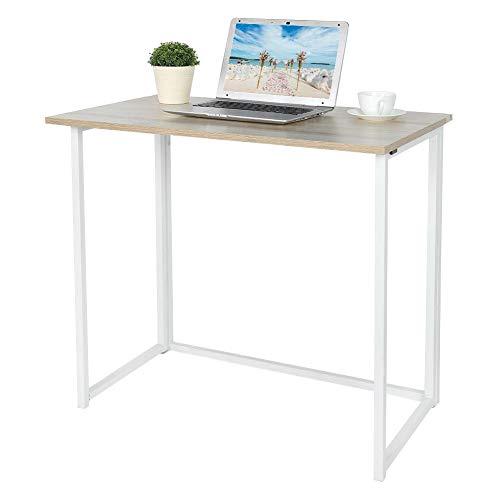 lyrlody Escritorio Plegable para Ordenador Portátil PC Mesa para Computadora Mesa de Estudio 80 x 74 x 45cm