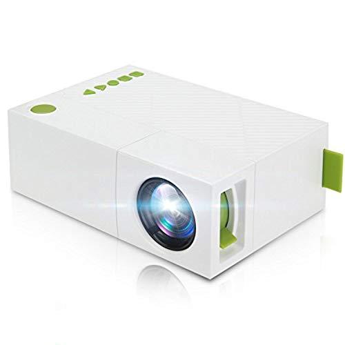 Winnes Mini Beamer, Mini Mobile Projektor,Tragbare LED Beamer Taschen Projektor mit Akku USB/AV/ARC Unterstützung TV Box Flash Drive Micro SD PC Laptop Konsole für Familie Bild Film Nacht Video YG310