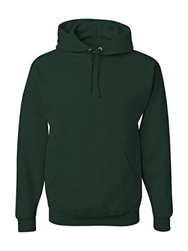 Jerzees Men's Fleece Pullover Hoodie, forest Green, Large