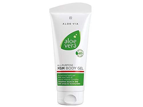 LR Aloe Via Serie – Gel corporal de aloe vera multifuncional MSM – 200 ml – 60% de gel de aloe vera, un compuesto especial de azufre, hojas de uva y extracto de corteza de sauce