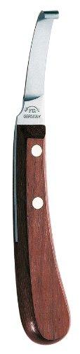 DICK Coltello per zoccolo destro di prima qualità, corto, sottile, molto affilato, lama dritta e manico in legno