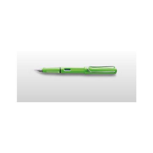LAMY Füller SAFARI Füllhalter / Viele schöne Farben, auch im Set mit Tintenpatronen wählbar (Ohne Tintenpatronen, Grün (M)13)