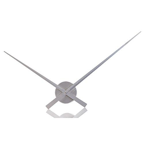 Gran reloj de pared SIMPLE TIME Alu Plata 80 cm
