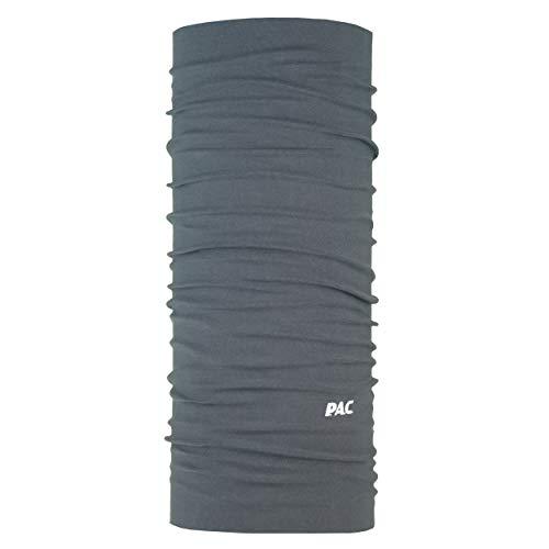 P.A.C. Original Solid Graphite Multifunktionstuch - nahtloses Mikrofaser Schlauchtuch, Halstuch, Schal, Kopftuch, Unisex, 10 Anwendungsmöglichkeiten