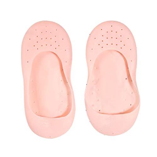 Poxcap - Calcetines hidratantes de gel de silicona reutilizables suaves con almohadillas para el talón protectores de mangas protector completo para el cuidado de los pies para aliviar las