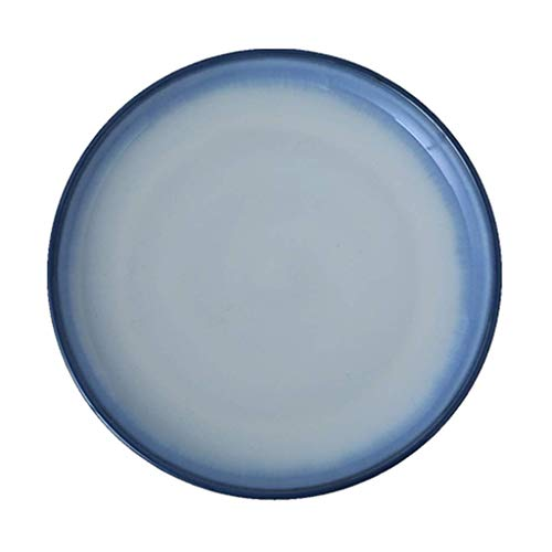 YNHNI Placa de vajilla Azul Occidental de Estilo Occidental de cerámica Plato Principal Plato Plato Plato Regalo Europea (Color : Blue, Size : 28.5 * 28.5 * 3CM)