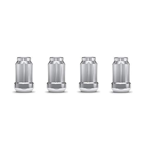 """White Knight 3804-4 Chrome 1/2""""-20 Spline Lug Nut with Key, 4 Pack"""