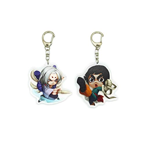 EBTY-Dreams Inc. - Set of 2 Naruto Anime Acrylic Keychain Rock Lee, Kimimaro