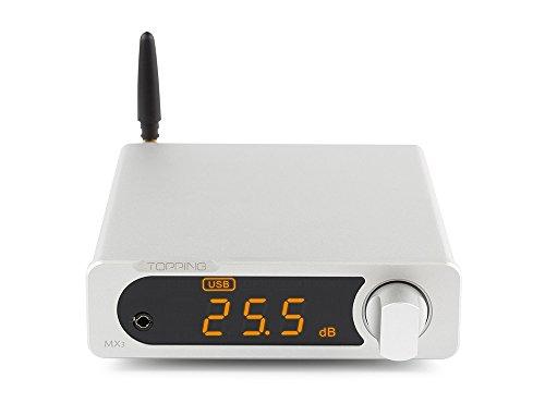 Topping MX3 Amplificatore digitale Amp Amplificatore per cuffie DAC per ricevitore Bluetooth incorporato Argento