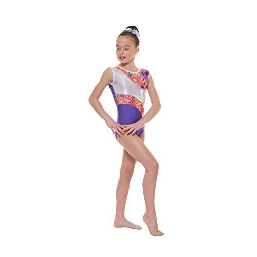 Tappers /& Pointers GYM23 Justaucorps manches longues en velours pour fille