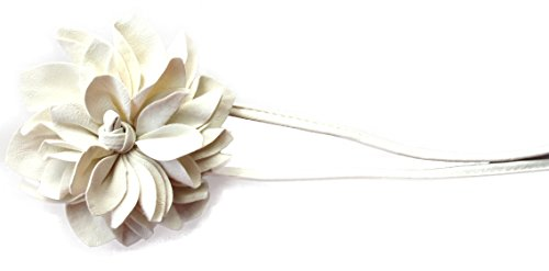 PRETTYSHOP Gürtel Hüftgürtel Wickelgürtel Leder Look mit extravaganter Blumen Diverse Farben (cremeweiß)