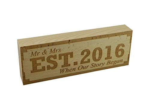 Pirantin EST 2016 4th Anniversary Sign Mr & Mrs Established 2016 When...