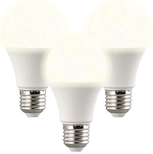 Luminea LED Lampen Radar: 3er-Set LED-Lampen, Lichtautomatik, Radarsensor, 806 lm, E27, warmweiß (Birne mit Bewegungsmelder)