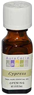 Aura Cacia 100 Percent Pure Cypress Essential Oil, 0.5 Ounce -- 6 per case. by Aura Cacia