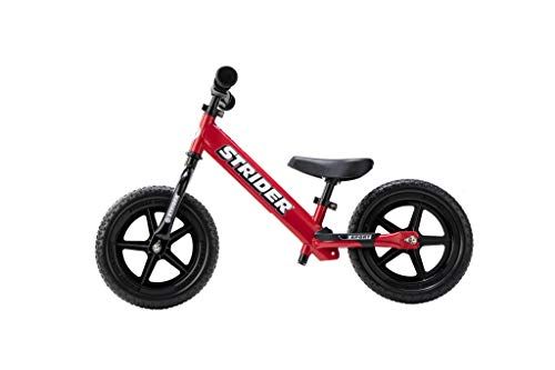 Strider - 12 Sport Balance Bike Bici Senza Pedali, età da 18 Mesi a 5 Anni … (Rosso)