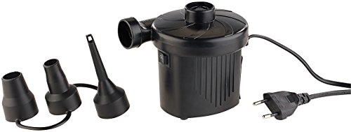 AGT Luftkompressor: Elektrische Schnell-Luftpumpe mit 3 Aufsätzen, für 230 V, 150 Watt (Elektrische Luftpumpen 230 Volt) - 3