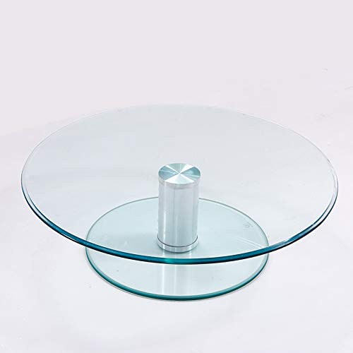 WY Table Turntable, Non-rotating, Small Two-layer Tempered Glass Round Table Countertop Display, Independent Raised Tray, Easy To Clean, Upper Turntable Φ50 / 60/70 / 80cm