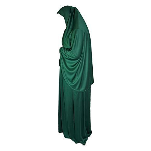 Juego de oración de Dos Piezas (pañuelo para la Cabeza + Falda), Talla única jimar elástico Licra Ideal para Todos los días, hogar, Trabajo, Viajes, Hayy, Umrah, Mezquita, madrassa